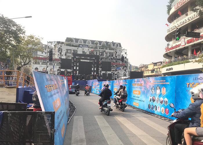 Sân khấu của sự kiện Tiger