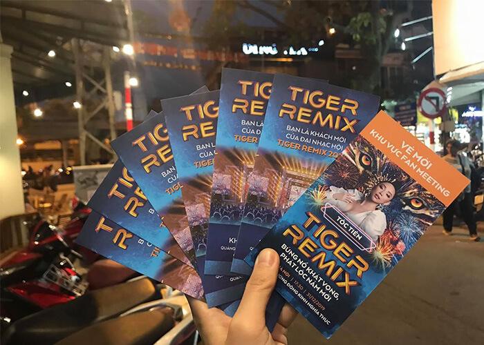 Vé tham dự sự kiện Tiger